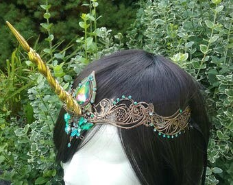 Unicorn circlet, unicorn horn, unicorn headpiece, unicorn costume, unicorn horn circlet