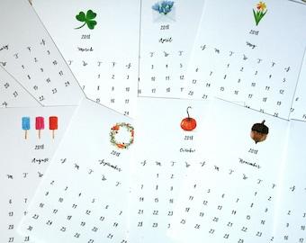Watercolor calendar | Etsy