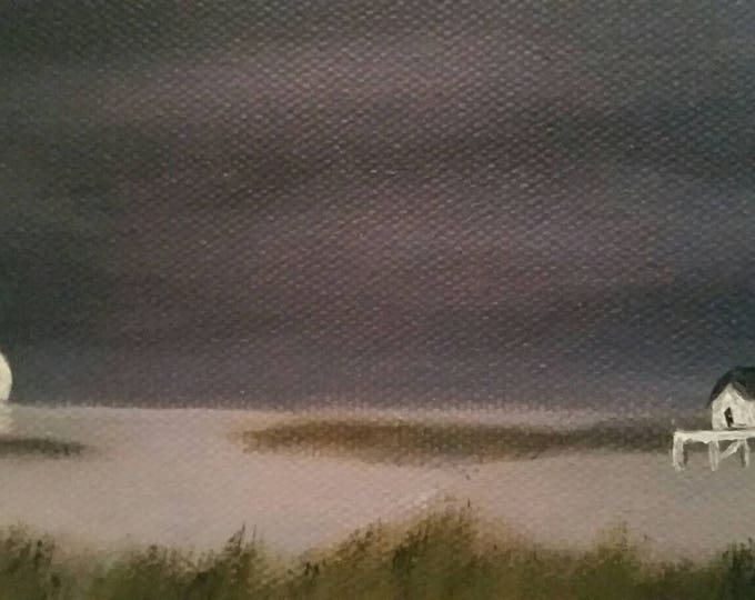 Louisiana Night - Oil Painting - Small Painting