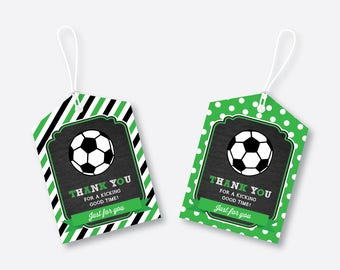 Instant Download, Soccer Favor Tags, Soccer Thank You Tags, Soccer Gift Tags, Soccer Birthday Tags, Soccer Party Printable, Football(CKB.78)