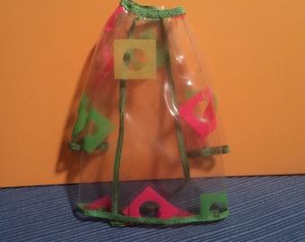 Vintage Mattel Barbie MOD Francie Doll Pazam! #1213 Clear Vinyl Jacket Coat