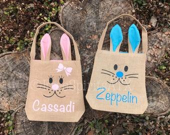 Personalized Easter Basket/Easter Basket/Easter Bags/Burlap Easter Baskets/Blank Easter Bag/Burlap Bunny Bags/Blank Bunny Bag/Easter Bag