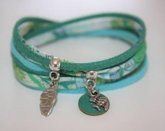 "Lucky charm ""Corsica"" green & turquoise bracelet"