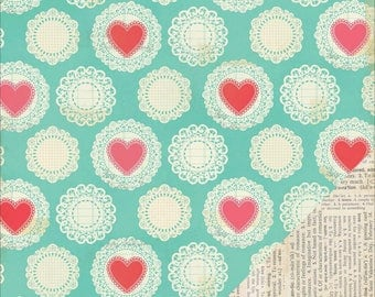Love Notes Dearest patterned paper
