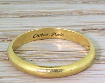 CARTIER 18k Yellow Gold Wedding Band, circa 1970
