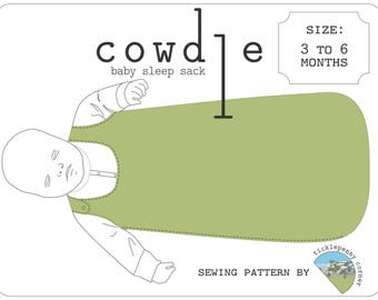 Cowdle Baby Sleep Sack Pattern 3 to 6 months