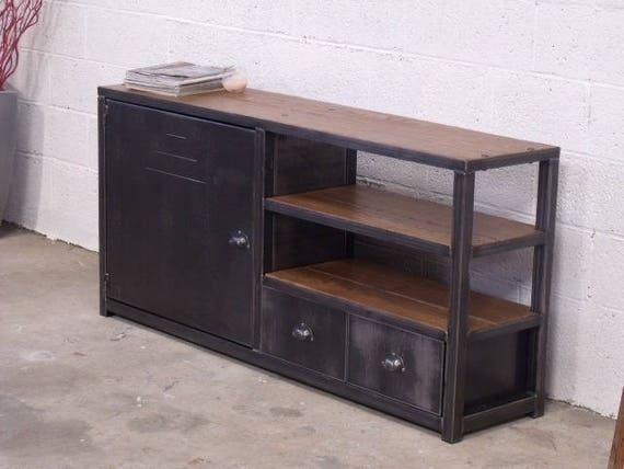 Articles similaires meuble rangement bois m tal meuble for Meuble bureau en metal