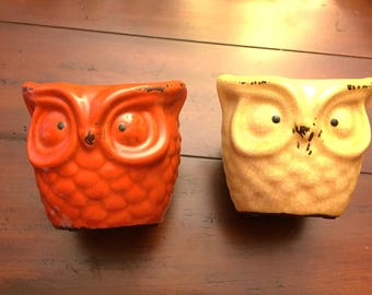 Owl container for plants, storage, candles