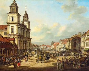 Bernardo Bellotto: Church of the Holy Cross in Warsaw. Fine Art Print/Poster. (004345)