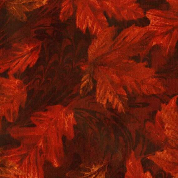 Rust Autumn Leaves Fabric-Harvest-Timeless Treasures-Botanical ... : fall quilt fabric - Adamdwight.com