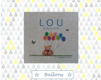 "Canvas 20 x 20 cm model ""Balloons"""