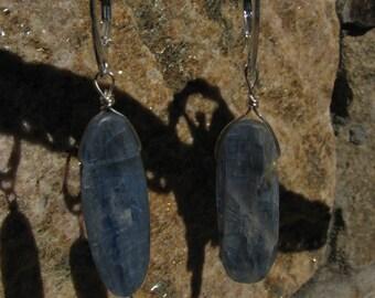 Kyanite , sterling silver earrings.