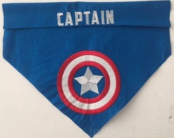 Captain America Personalized Dog Bandana