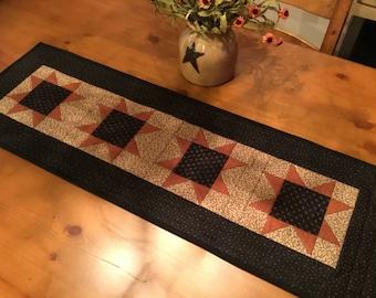 Fall Table Runner / Quilted Table Runner / Autumn Runner / Handmade /Item #2169