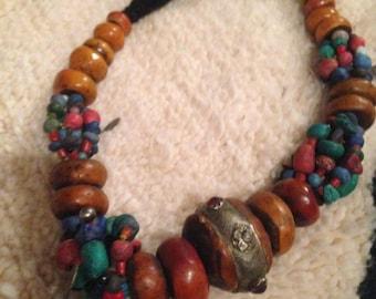 Copal amber mid century beads