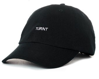 Black Dad Cap TURNT Low Profile Hat **Free Domestic Shipping**