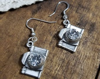 Camera Jewelry , gift for Photographer , Camera earrings photographer earrings photographer jewelry