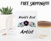 World's best Artist, funny mug, funny coffee cup, craft, painter, artist