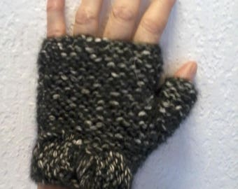 original fingerless mittens with thumb
