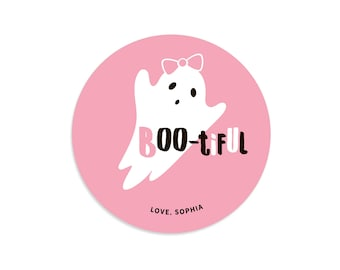Halloween stickers, Personalized Halloween stickers, Halloween labels, Halloween tags for kids, Ghost stickers, Halloween tags and bags