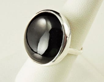 33% Off Christmas in July Size 8 Sterling Silver And Black Onyx Ring