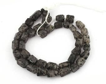 Valentines Day 1 Strand Black Rutile Faceted  Center Drill Briolettes - Tourmilated Quartz Nugget Beads 8mmx8mm-10mmx9mm 18 inches long SB22
