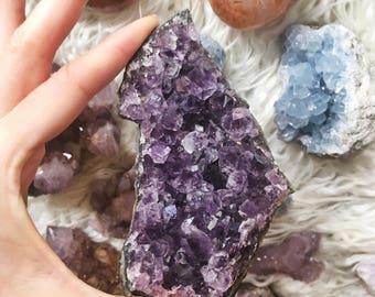 Amethyst Crystal Cluster deep purple