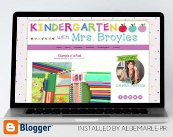 Premade Blogger Template // Blogspot Template // Teacher Blog Template // Apple Blog - Mrs. Broyles
