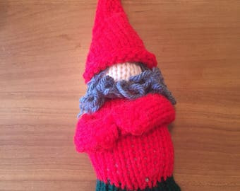 Hand made gnome doll and free shipping!