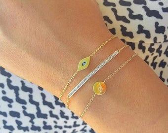 ON SALE Diamond bar bracelet
