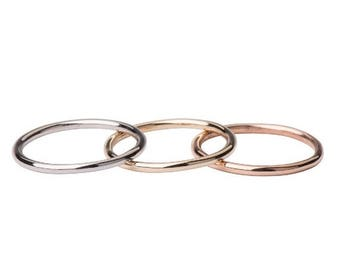 ON SALE 14k gold ring band, 14k gold band