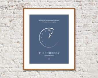THE NOTEBOOK - Minimalist Poster, The Notebook Poster, Gena Rowlands, James Garner, Rachel McAdams, Ryan Gosling, Alternative Poster