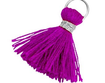 Tassels, tassel-3 pcs.-1.8 cm-Color selectable (color: purple)