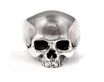 Mens Skull Ring Sterling Silver 925  High Polishing Warrior Skull