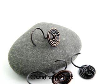 Spiral Celtic Nose Pin/Unique nose jewelry/Nose piercing/Copper nose ring/copper nose stud/Nose screw/Nose ring/Body Jewelry/wire wrapping