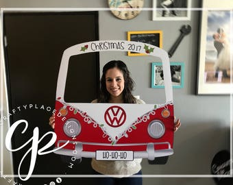 Christmas photo booth | Holiday photo booth frame | Car photo booth prop | Selfie frame | Christmas photo prop | Printed