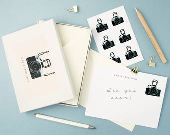 Personalised Camera Notecards Writing Set