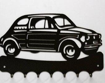 Hangs 26 cm pattern metal keys: Fiat 500