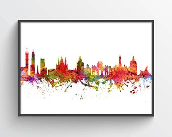 Madrid Poster, Madrid Skyline, Madrid Cityscape, Madrid Print, Madrid Art, Madrid Decor, Home Decor, Gift Idea ESMD08P