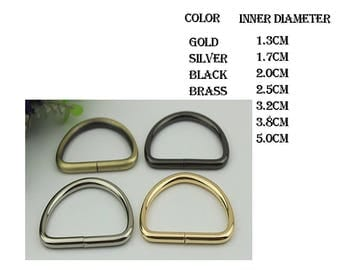 50 pieces D ring ( 7 SIZE  4 FOLOR)  XY073
