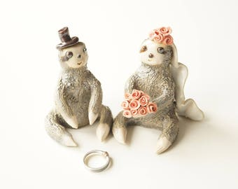Sloth Cake Topper, Sloths Cake Topper, Wedding Cake Topper, Sloth gift, Sloth lover Cake Topper, Sloths by Her Moments