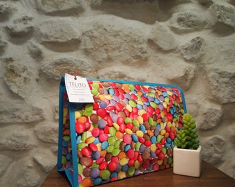 Toiletry bag in oilcloth XL candy