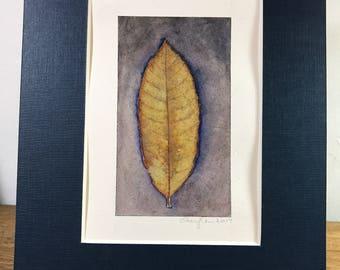 Botanical Watercolor and ink painting - Original
