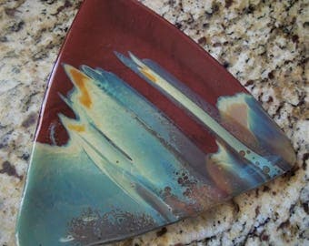 Triangular Fused Glass Plate