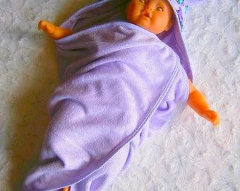 Hooded towel micro-eponge bamboo and minky