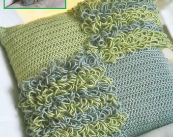 Instant Download - PDF- Pretty Loopy Cushion Cover Crochet Pattern (H35)