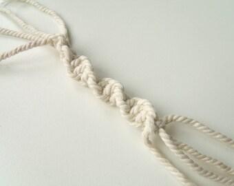 Macramé Ficelle Ø 2mm Corde Fil Cordon de Coton Blanc Cassé