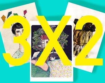 OFFER 3X2_Print A5 _ illustration digital printing _ _ _ drawing art
