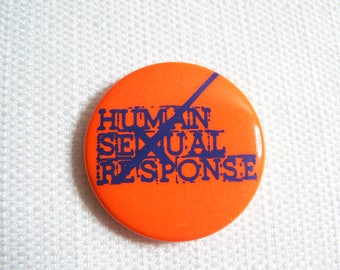 Vintage Early 80s Human Sexual Response - Boston New Wave Band - Pin / Button / Badge