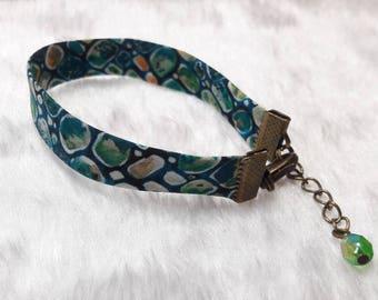 Liberty bracelet bronze green pebbles